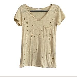 Gilded intent distressed tee